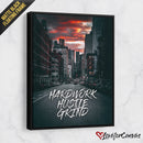 Hustle Hardwork Grind | Motivational | Canvas Poster
