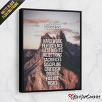 Success Mountain | Motivational | Canvas Poster
