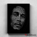 Bob Marley Typography | Legends | Canvas Poster