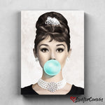 Audrey Hepburn - Bubble | Legends | Canvas Poster