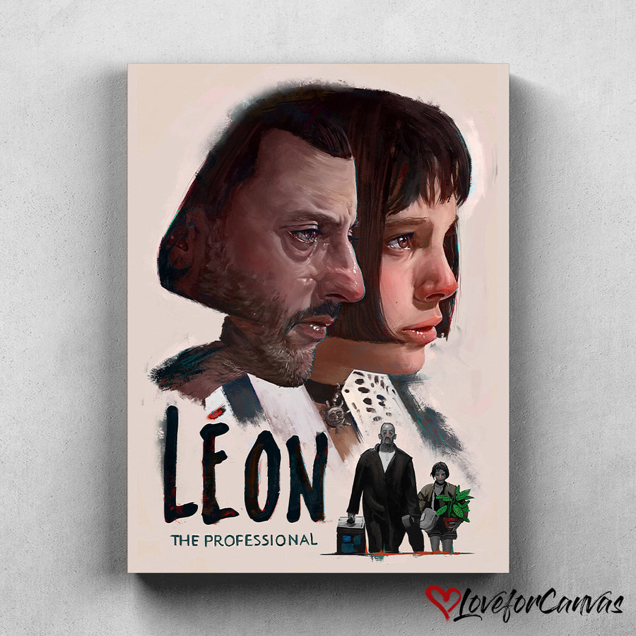 Leon: The Professional | Movies Fanart | Canvas Poster