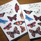 New Zealand Butterflies Vinyl Sticker Sheet