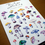 Mushrooms Vinyl Sticker Sheet
