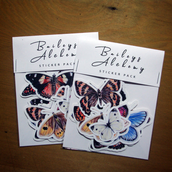 New Zealand Butterflies Vinyl Sticker Pack