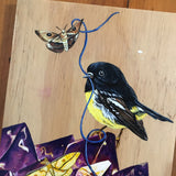 "ORIGINAL ""Tomtit"" Acrylic Painting - SALE"