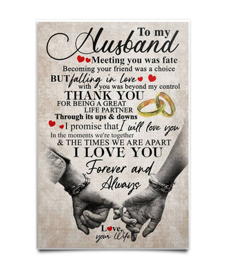 To My Husband - Gift for husband Poster