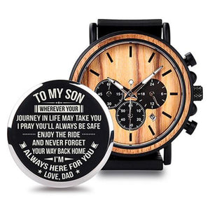 Engraving Quartz Wristwatches Great Gifts For SON