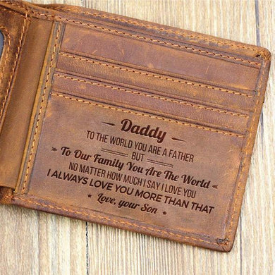 Personalized Leather Wallet For Dad - Perfect Gift For Your Dad