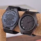 GREAT GIFTS FOR HUSBAND ENGRAVED WOODEN WATCH