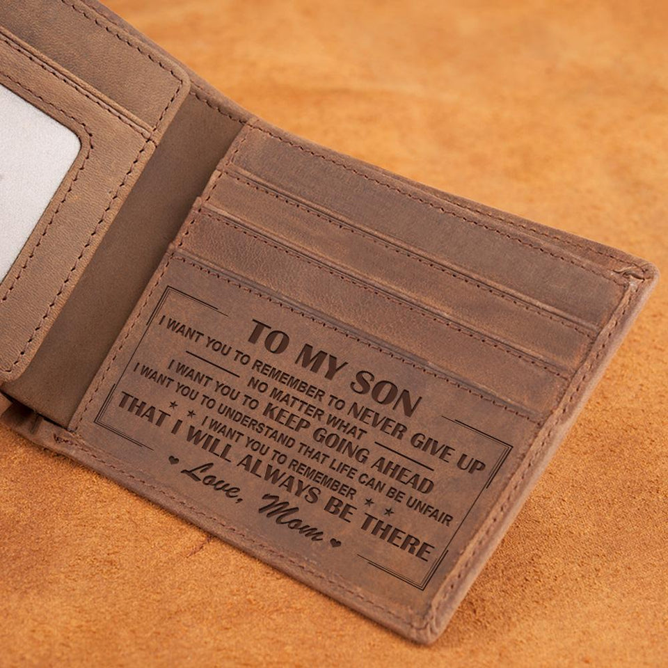 LEATHER WALLET TO MY SON