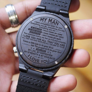 Engraved Wooden Watch For My Man
