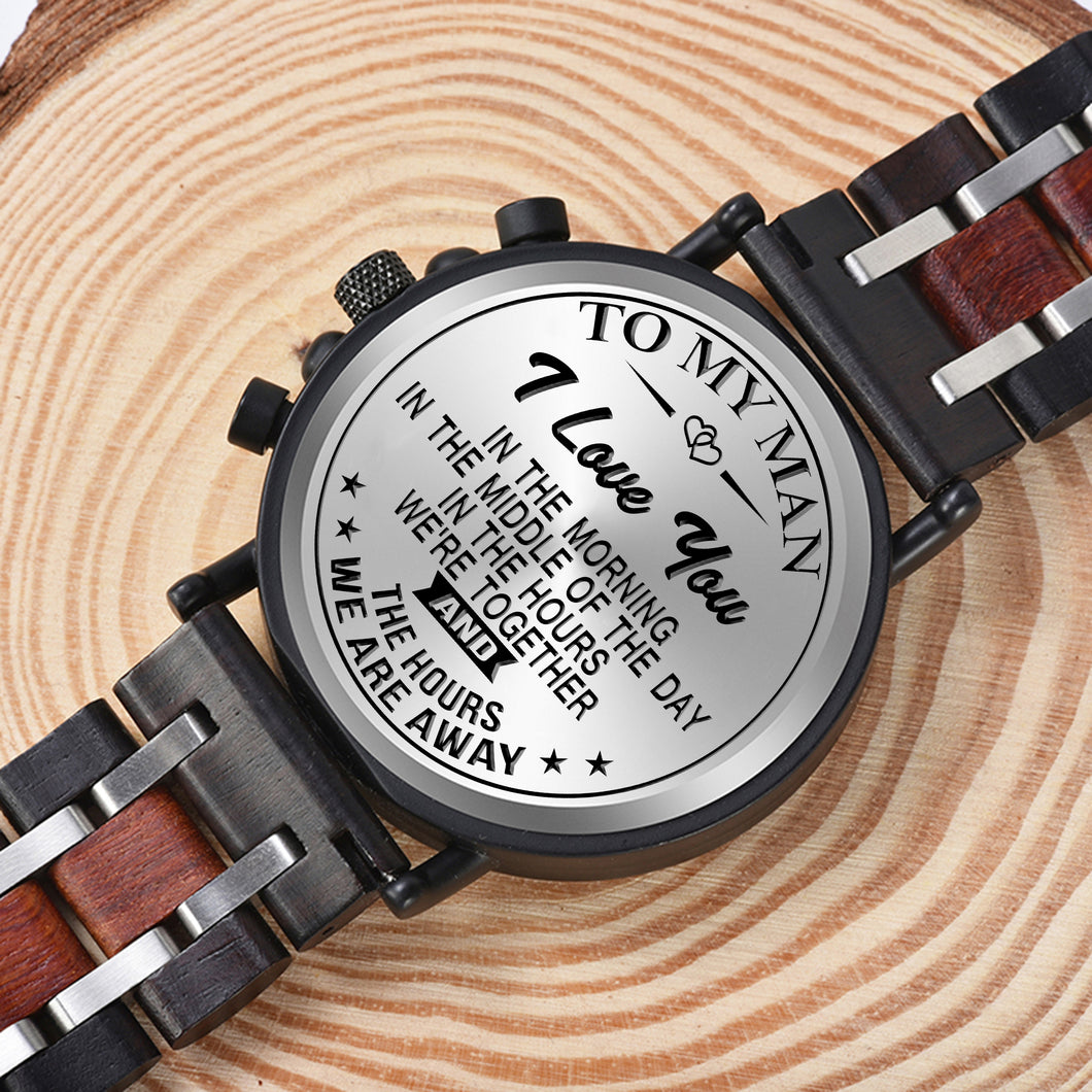 Wood Watch Engrave Your Personalized Logo