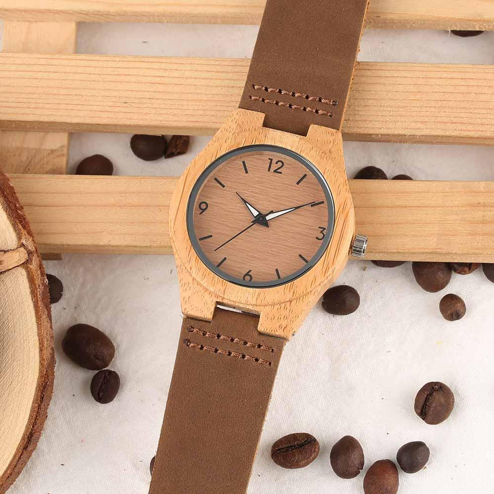 To My Daughter Wooden Watch  Dad/Mom/Mum