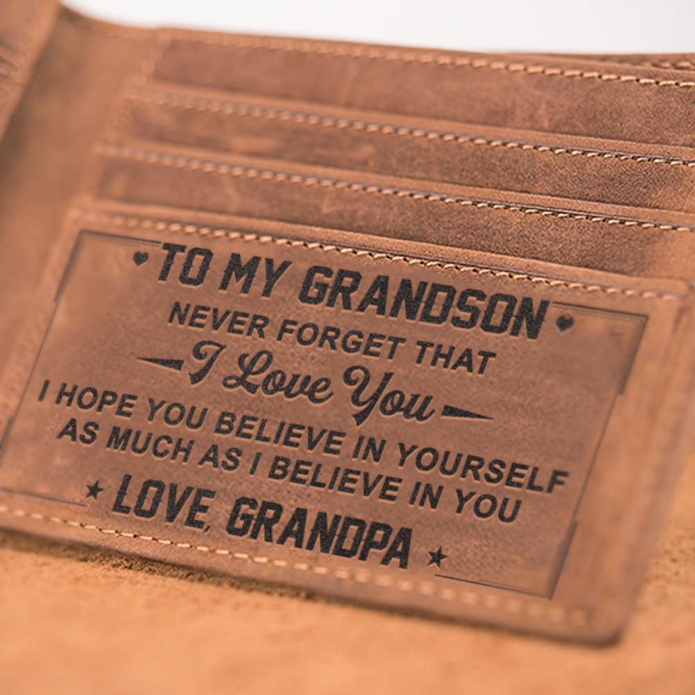 LEATHER WALLET - TO MY GRANDSON