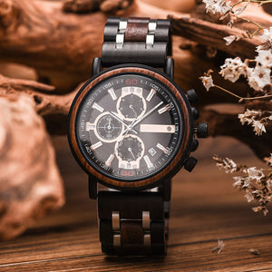 Engraved Wooden Watch - Great Gifts For Man/Husband
