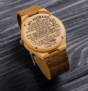 Engraved Wooden Watch For Husband