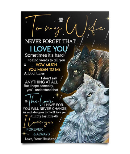 Perfect Gifts For Wife - To My Wife  Poster Poster