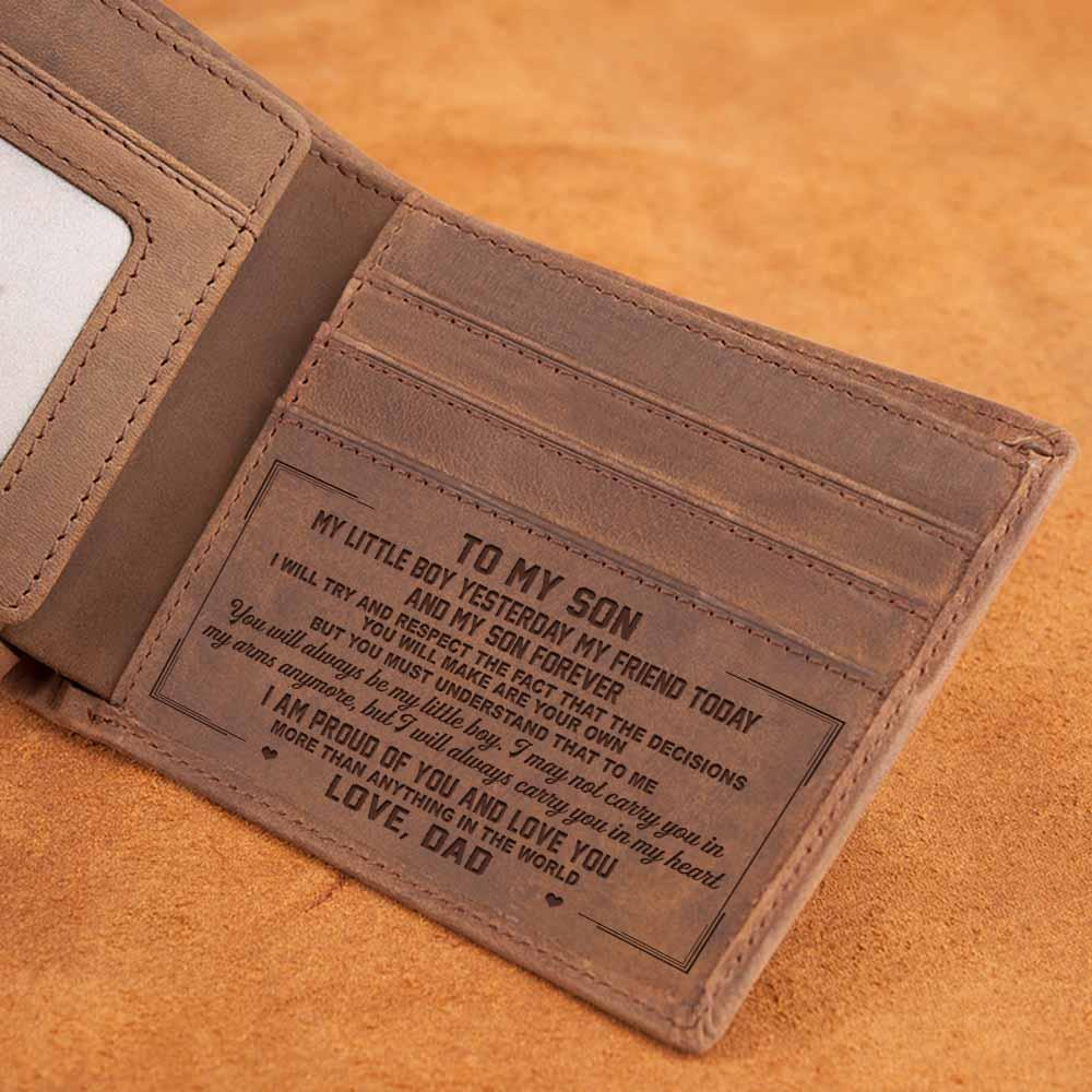 LEATHER WALLET - TO MY SON
