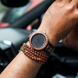 GREAT GIFTS FOR DAD - ENGRAVED WOODEN WATCH // ZEBRAWOOD + EBONY