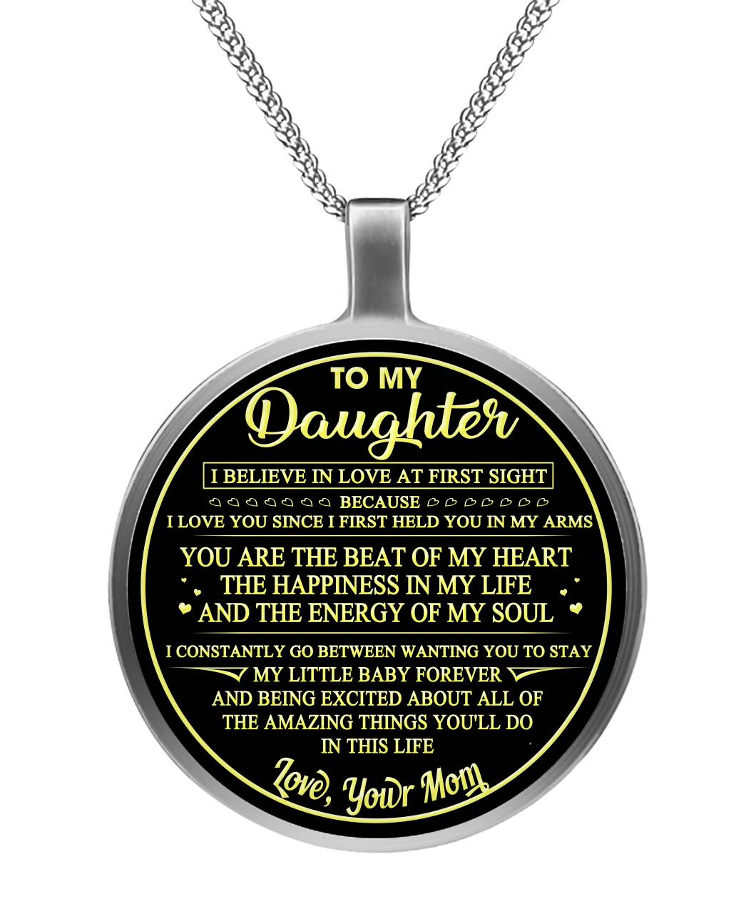 To My Daughter Necklace Circle Necklace