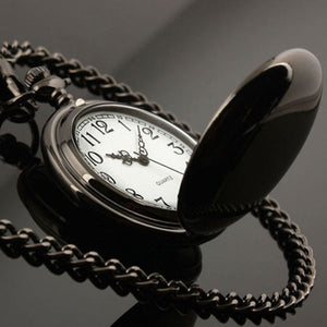 True Black Pocket Watch - Perfect Gift for Your Husband