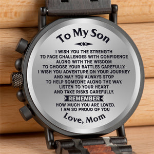 Engraved Wooden Watch - Great Gifts For Son