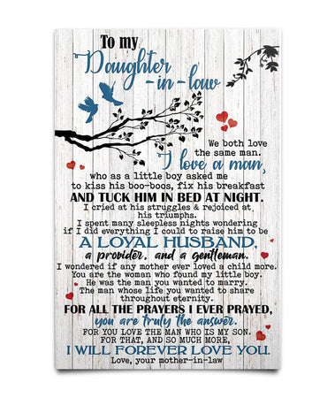 To My Daughter In Law Poster
