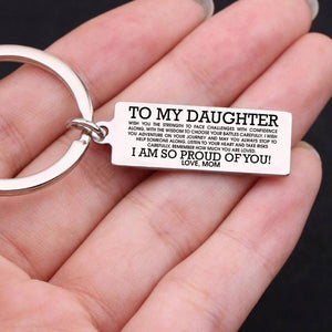 Keychain Love To My Daughter