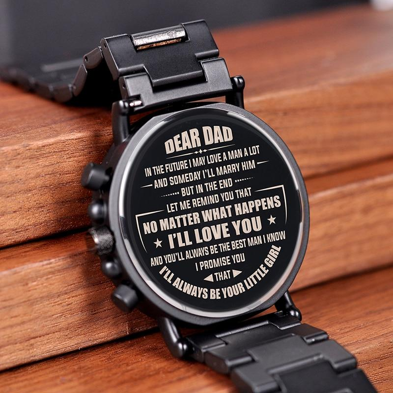 Engraving Quartz Wristwatches Great Gifts For DAD