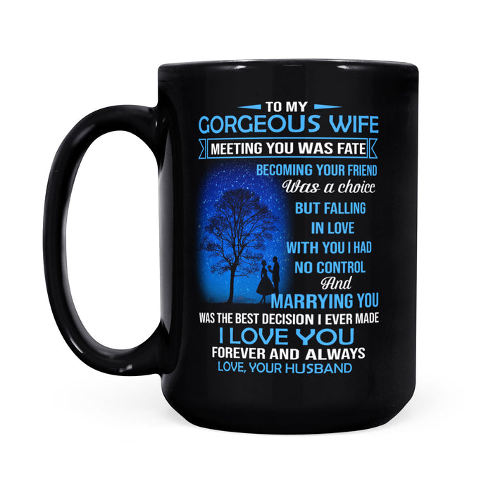 To My Wife Black Coffee Mug
