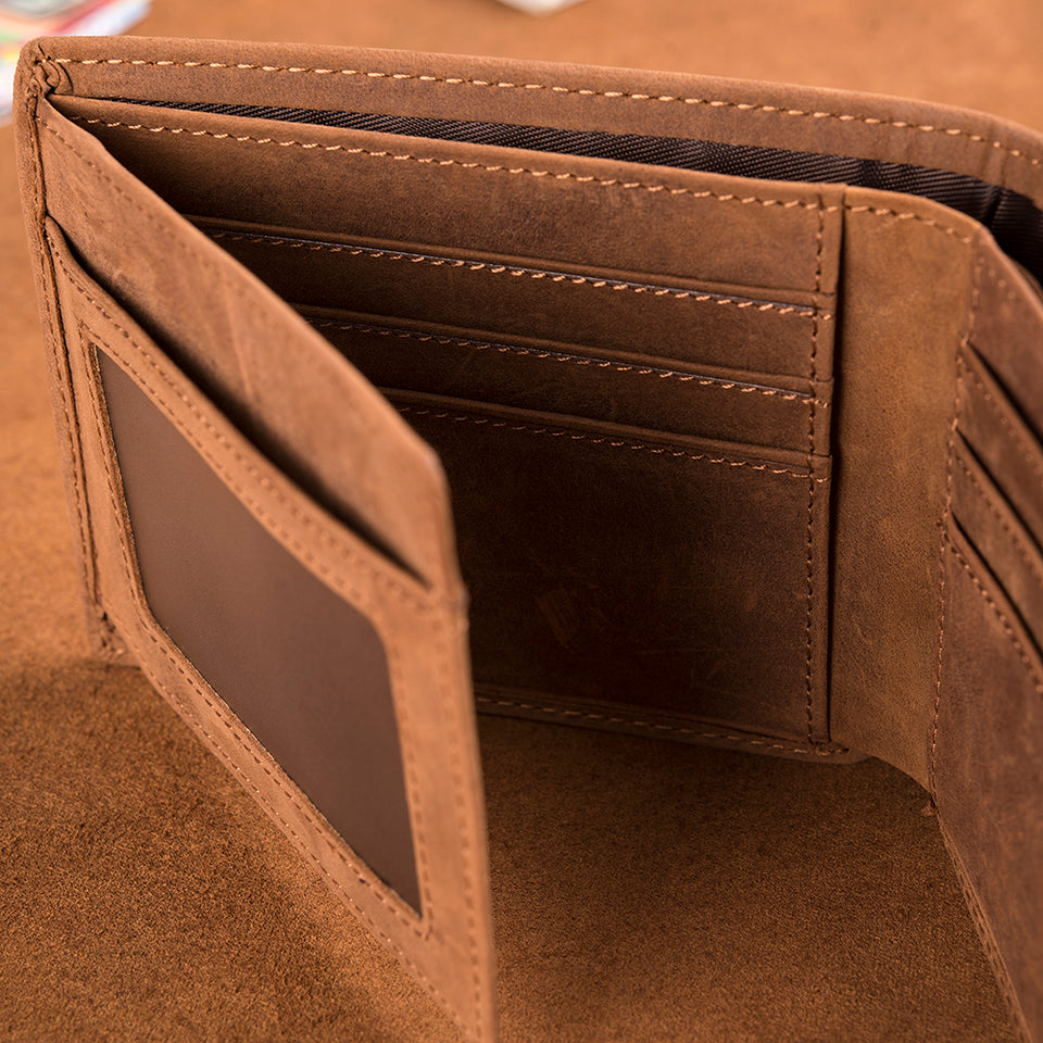 LEATHER WALLET - GREAT GIFTS FOR GRANDSON