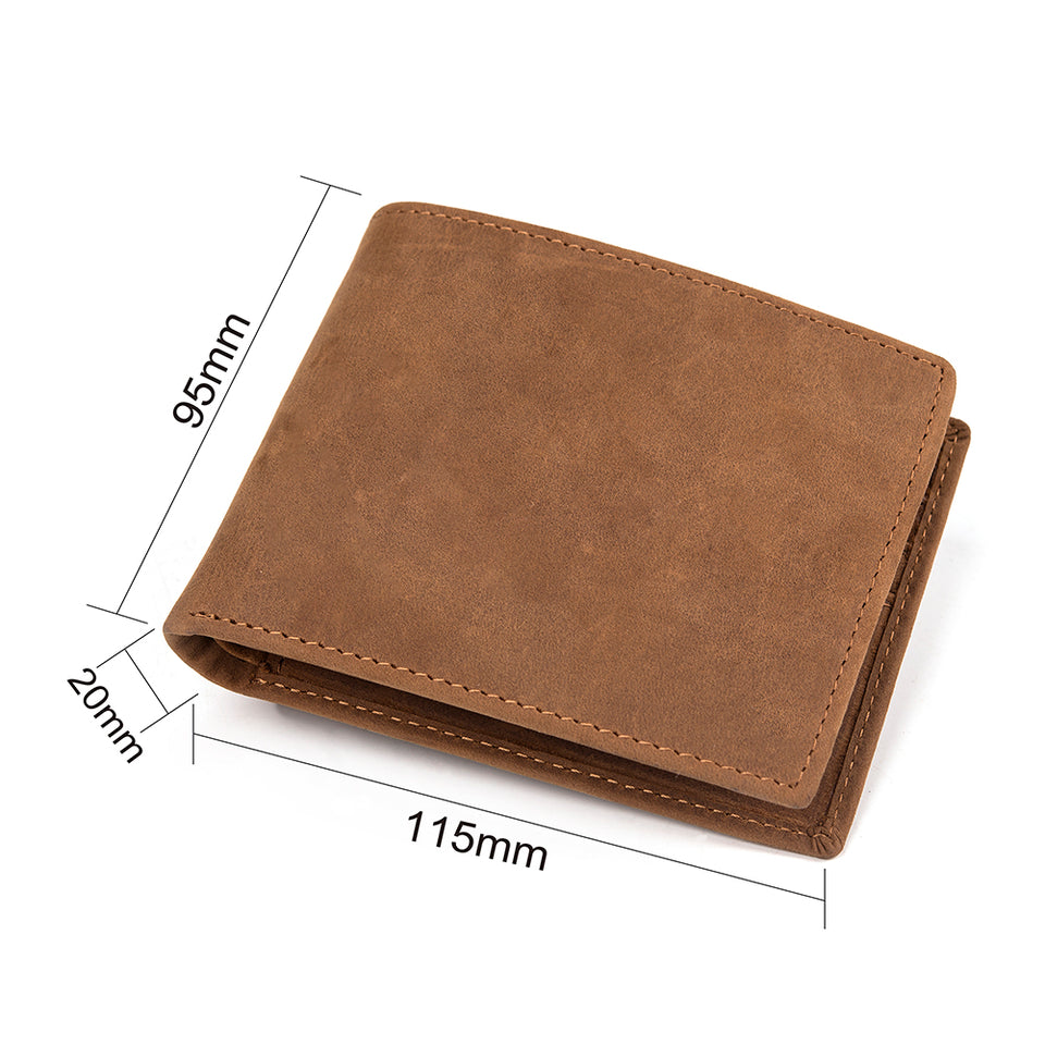 Perfect Gifts For Husband - Engraved Leather Wallet