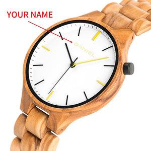 Wood Watch Quartz Wristwatches - Personalized Watch For Men
