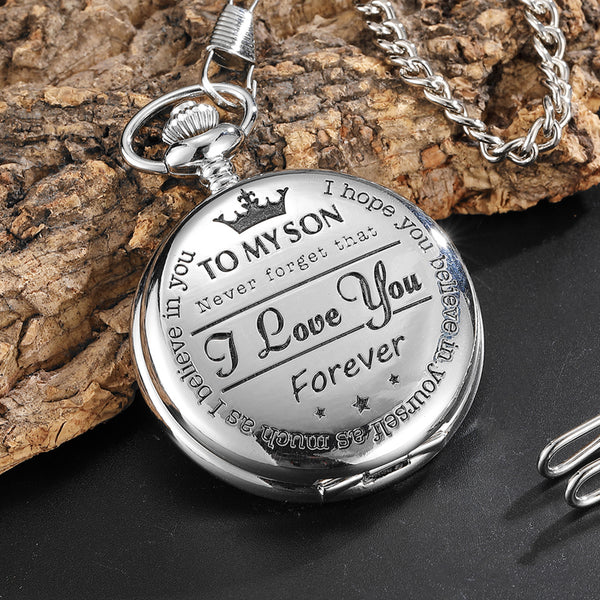 Perfect Pocket Watch Engraved To My Son