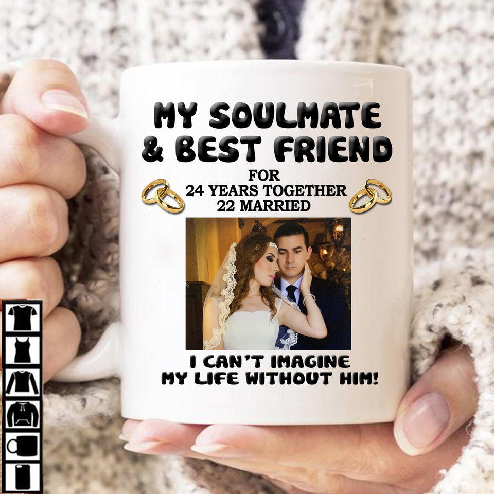 Personalized Coffee Mug Years And Photo - Gift For Husband/Wife