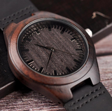 ENGRAVED WOODEN WATCH - GREAT GIFT FOR YOUR BOYFRIEND!