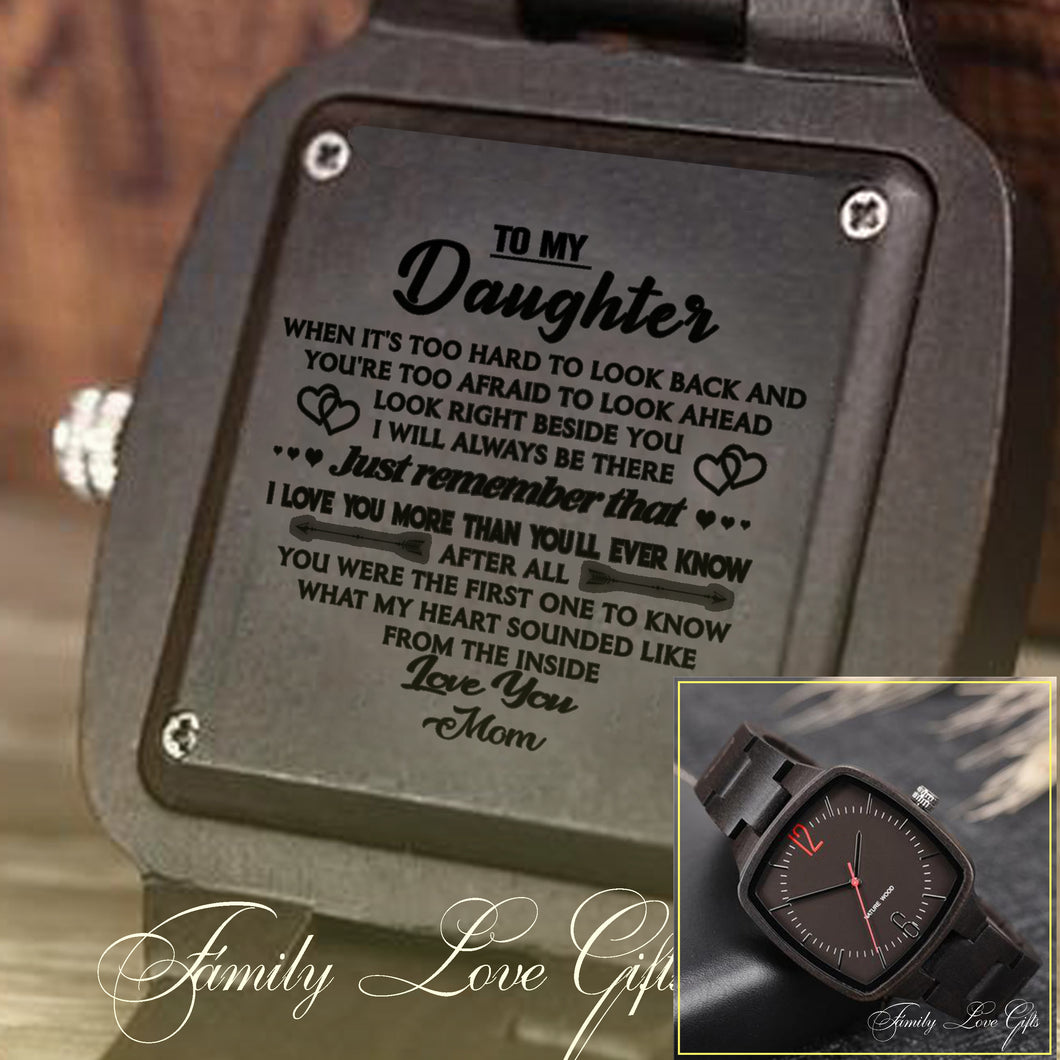 Great Gifts For Your Daughter - Engraved Wooden Watches
