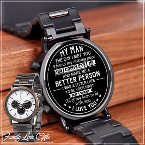 Engraving Wooden Wristwatches - Great Gifts For Your Man