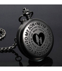 True Black Pocket Watch, Love Mom