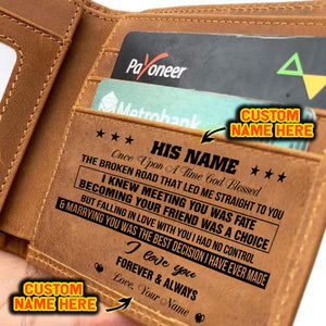 PERSONALIZED NAME LEATHER WALLET FOR YOUR HUSBAND/MAN