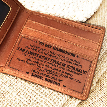 LEATHER WALLET - GREAT GIFT FOR GRANDSON