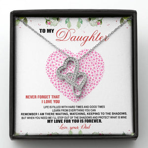 Perfect Gift For Daughter Doubles Heart Necklace 🎁