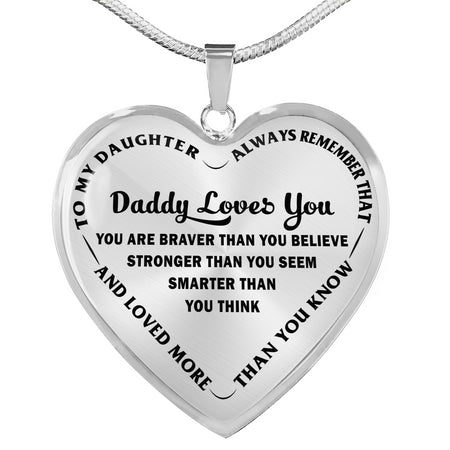 To My Daughter Pendant Necklace