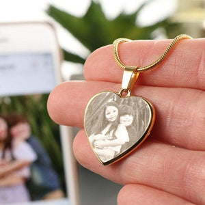 Personalized Photo Heart Necklace For Your Love