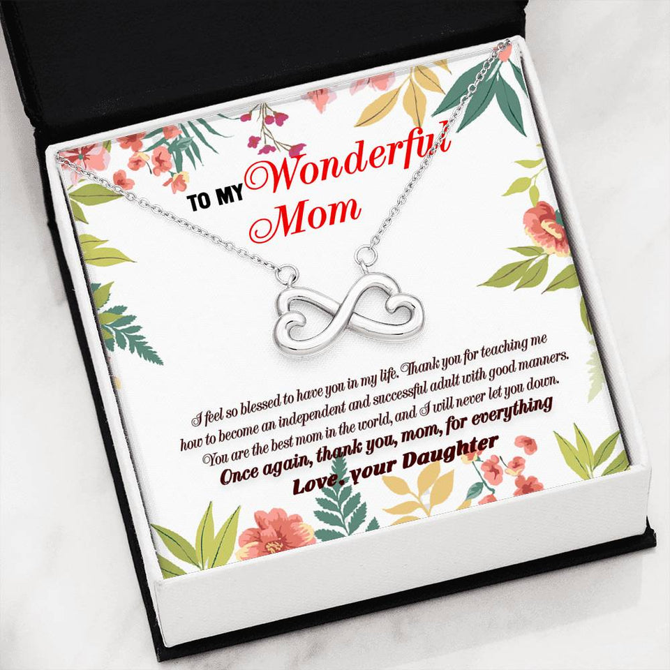 Great Gift For Mom Necklace with Message Card