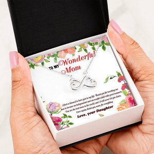 To My Wonderful Mom Necklace Message Card
