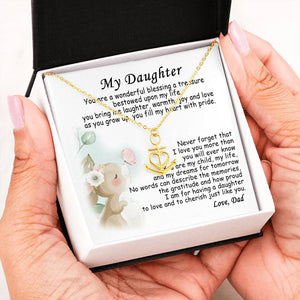 To My Daughter Necklace Gift - Gift For Daughter