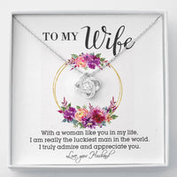 Perfect Gift For Wife Necklace With Message Card