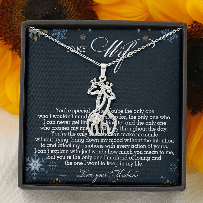 To My Wife Giraffe Necklace