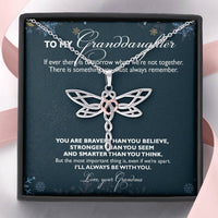 Gift For Granddaughter Dragonfly Necklace From Grandma